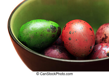 Colorful Speckled Easter Egg