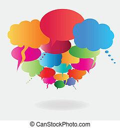 Colorful speech balloons