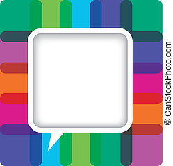 Colorful speech bubble card