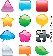 colorful speech bubbles elements