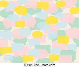 colorful speech bubbles pattern- vector illustration