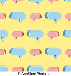 Colorful Speech Bubbles Seamless Pattern