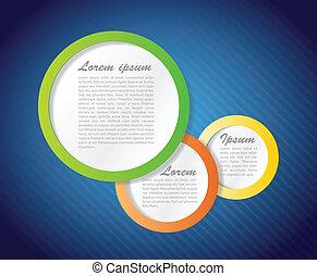 colorful Speech text bubbles illustration design