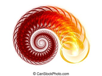 Colorful Spiral Background Digital fractal