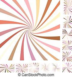 Colorful spiral background set
