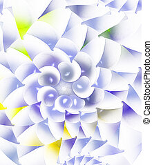 colorful spiral fractal on white