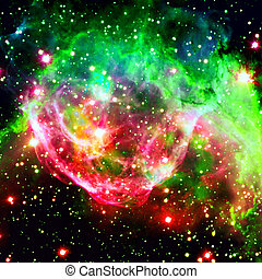 Colorful spiral galaxy in outer space. Elements of this Image furnished by NASA