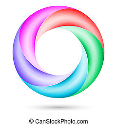 Colorful spiral ring.  Illustration on white background