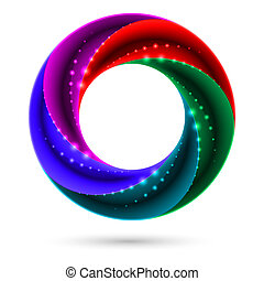 Colorful spiral ring. Illustration on white background for...