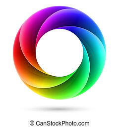 Colorful spiral ring - Abstract Colorful spiral ring....