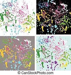 Colorful splash background