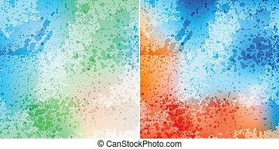 splash backgrounds - colorful splash backgrounds, eps10...
