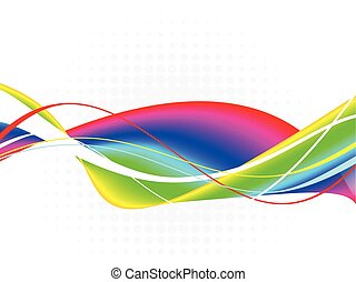 Colorful splash design-Stock Illustration