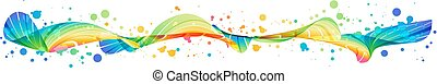 Colorful splash horizontal design
