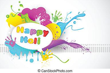 Colorful Splash in Holi Wallpaper