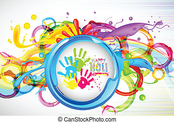 Colorful Splash in Holi Wallpaper