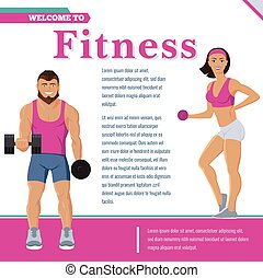Colorful Sport And Fitness Poster