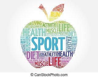 Colorful Sport apple