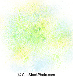 Colorful spray paint on white background