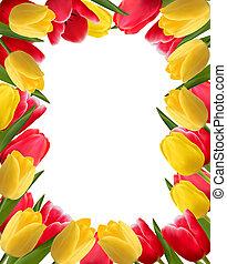 Colorful spring flower background. Vector illustration.