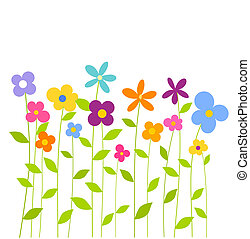 Colorful spring flowers - Cheerful fantasy spring flowers...