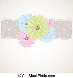 Colorful Spring flowers . Vector illustration