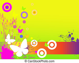 colorful spring - vector illustrtion of a clef on an...