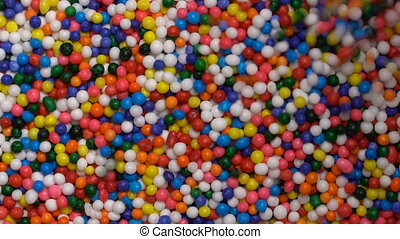 Colorful sprinkles sugar background - Colorful sprinkles...