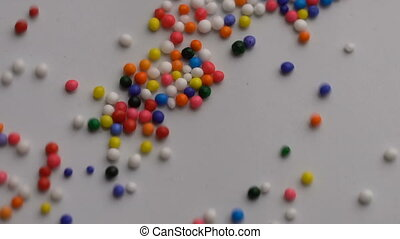 Colorful sprinkles sugar background