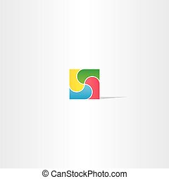 colorful square business logo design abstract icon