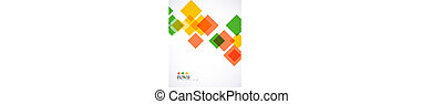 Colorful square geometrical background