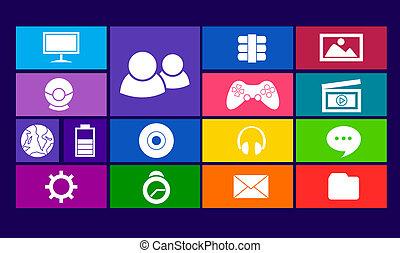 Colorful Square Icon