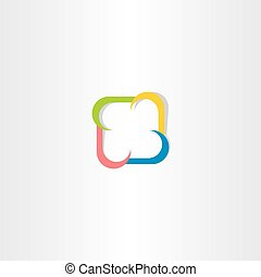 colorful square logo abstract business technology icon vector