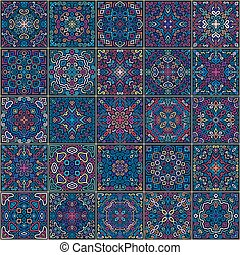 Colorful Square Tiles Seamless patt