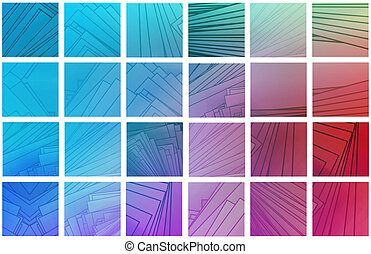 Colorful Squares Background with a Edit Blocks