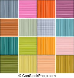 Colorful Squares Background. Vector Rectangles Seamless Pattern