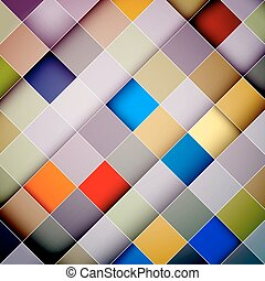 Colorful Squares Vector Diagonal Abstract Background