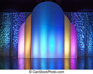 Colorful Stage - colored backdrop on performance stage