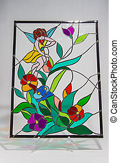Colorful stained glass - photo of an object