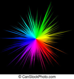 Colorful star burst