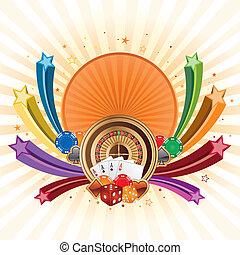 casino design elements - colorful star, casino design ...
