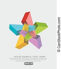 Colorful star design element