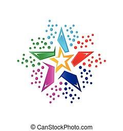 colorful star illustration