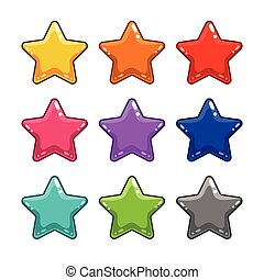 Colorful star isolated on white