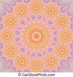 Colorful star mandala fractal background - Colorful abstract...