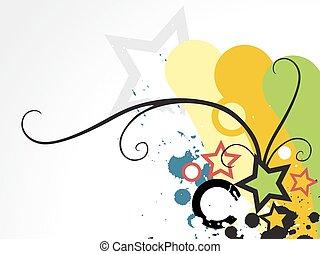 Colorful star vector design