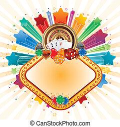 colorful star,casino design element