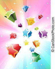 Colorful Stars Background - Vector illustration of Colorful...