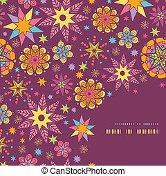 Colorful stars corner seamless pattern background template