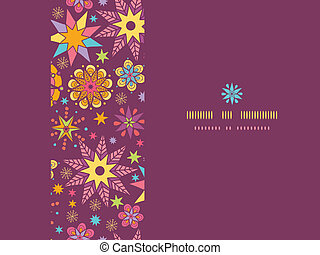 Colorful stars horizontal seamless pattern background template